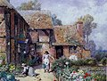 Myles Birket Foster - An Afternoon in the Garden.JPG