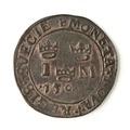Mynt av silver. 1 mark. 1590 ? - Skoklosters slott - 109087.tif