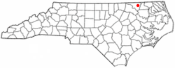 Location of Conway, North Carolina