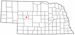 Location of Tryon, McPherson