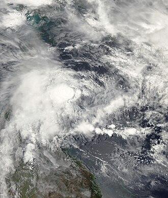 2009–10 Australian region cyclone season - Image: NEVILLE.30kts 1000mb 147S 1471E.100pc