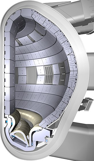 ITER - Cross-section of part of the planned ITER fusion reaction vessel.