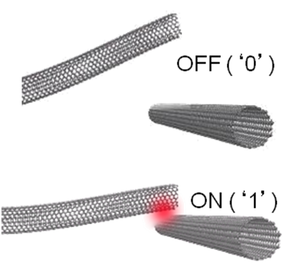 Nano-RAM - Figure 2: Carbon nanotube contact points