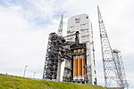 NROL-37 DeltaIV Heavy on the pad at T minus 1 day (27475013091).jpg