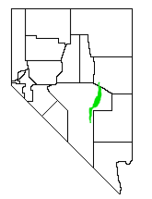 Railroad Valley - Location of Railroad Valley within Nevada
