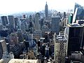 NYC - Top of the Rock - view of Midtown South Central – Empire State Buildung - panoramio (1).jpg