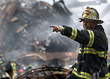A Deputy Chief Coordinates Recovery Efforts Three Days After The Collapse Of World Trade Center