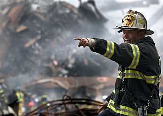 Firefighting in the United States - FDNY Deputy Chief Joseph Curry at the World Trade Center site of 2001 September 11 attacks.