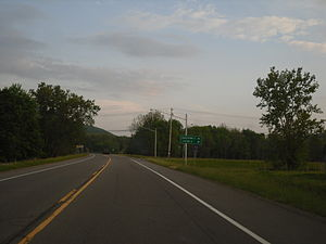 New York State Route 328 - NY 328 at the junction with CR 78 in Southport