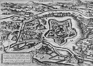 Stephen Bocskai - The fortress of Várad (now Oradea in Romania) in 1598 (an engraving by Joris Hoefnagel)
