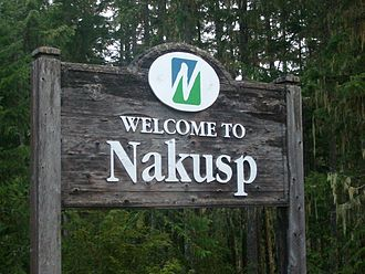 Nakusp - Nakusp's welcome sign