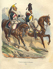 Napoleon Dragoon and Sapper by Bellange