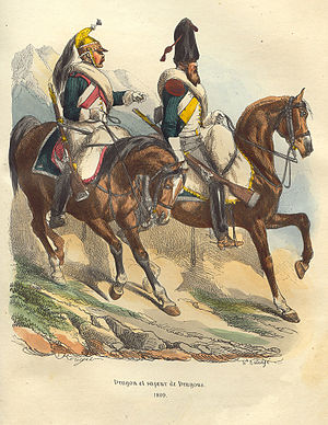 Battle of Corunna - French Dragoons by Hippolyte Bellangé