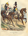 Napoleon Dragoon and Sapper by Bellange.jpg
