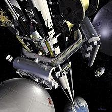 Rum-elevator koncept (Sci Fi)