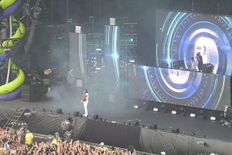 Nasri (musician) - Nasri performing on stage with Zedd at Tokyo Summer Sonic in 2015