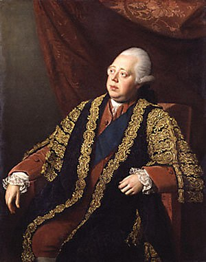 Sir Francis Bernard, 1st Baronet - British Prime Minister Frederick North, Lord North (portrait by Nathaniel Dance) consulted Bernard on colonial affairs.