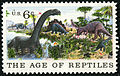 Natural History Jurassic Period 6c 1970 issue U.S. stamp.jpg