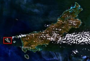Ndao Island - Satellite view of Ndao Island