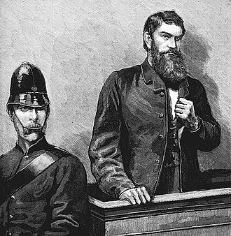Ned Kelly was a notorious bushranger Ned Kelly in court.jpg