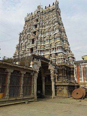 Nellaiappar Temple -  The Gopuram of Nellaiappar Temple