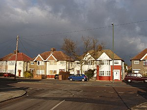 Whitton, London - Image: Nelson Road, Whitton sun and dark sky geograph.org.uk 112527