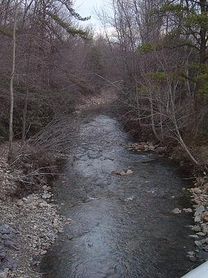 Nesquehoning Mountain - Image: Nesq Creek 1