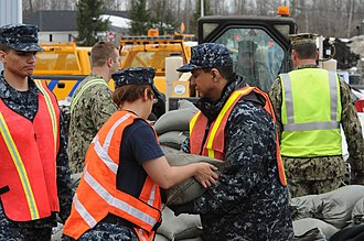 New York Naval Militia - Image: New York National Guard prepares for flooding 141123 F ZP861 628