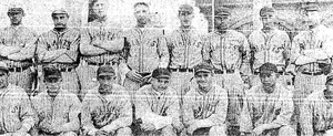 Jim Mahady - While incarcerated for second degree manslaughter, Mahady (standing row, fourth from right) was the pitcher and captain of a baseball team featuring fellow prisoners.