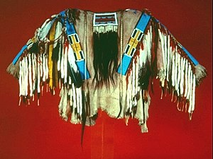 Nez Perce people - A traditional Nez Perce beaded shirt.