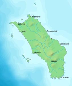Karte von Nias