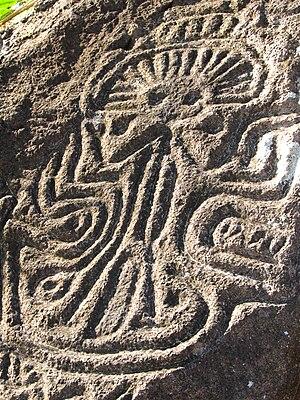 Nicaragua - An ancient petroglyph on Ometepe Island