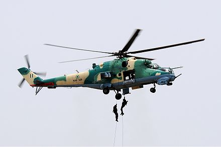Nigerian Air Force Mil Mi-35P Nigerian Air Force Mil Mi-24V Iwelumo-1.jpg