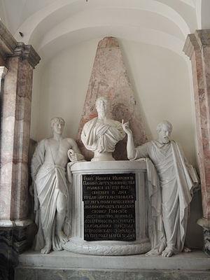Nikita Ivanovich Panin - Panin's tombstone, by Ivan Martos and Giacomo Quarenghi