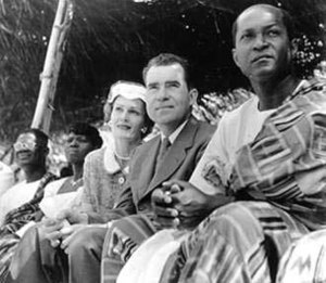 Pat Nixon - Vice President and Pat Nixon during a visit to Ghana, 1957