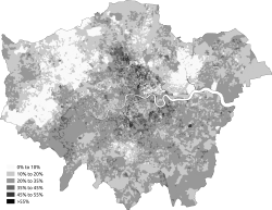 Noreligion Greater London 2011 census.png