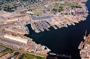 Shipyard - Aerial view of Norfolk Naval Shipyard