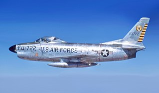 North American F-86D Sabre USAF all-weather interceptor