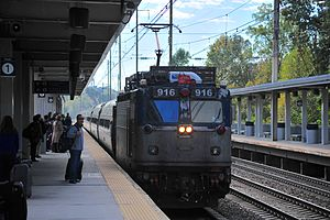 BWI Rail Station - A Northeast Regional train at the station