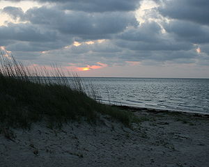 Sunset on a northern island beach (Ocracoke Is...
