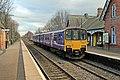 Northern Rail Class 150, 150116, Hough Green railway station (geograph 3819548).jpg