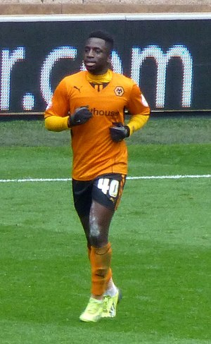 Nouha Dicko - Dicko playing for Wolverhampton Wanderers in 2014