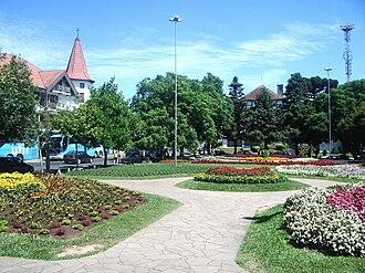 Nova Petrópolis - Main square in Nova Petrópolis