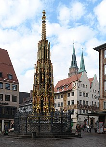 sch ner brunnen n rnberg wikipedia. Black Bedroom Furniture Sets. Home Design Ideas