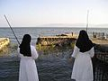 Nuns on the river of the Genesaret (2004).JPG