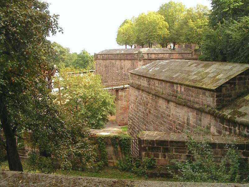 Nuremberg defensive wall north f burggarten bastion f w