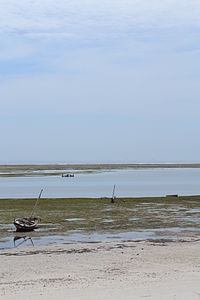 Nyali Beach from the Reef Hotel during low tide in Mombasa, Kenya 7.jpg
