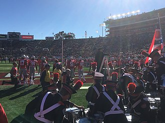 2019 Rose Bowl - Ohio State Football Team and Band before the game