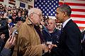 Obama and Hector Cafferata shake hands