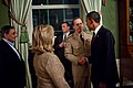 Obama shakes hands with an admiral in Green Room after announcing death of Osama bin Laden.jpg